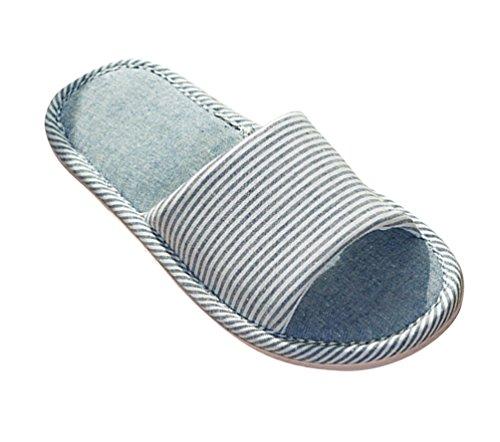 Kuschelige Damen Hausschuhe Weiche Leicht Wärme Hausschuhe Rutschfeste Slippers Für Unisex Dunkelblau