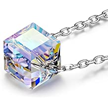 NINASUN Necklace Beautiful Life 925 Sterling Silver Pendant Necklace Made with Swarovski Crystals, Pay Extra 10 Get Blue Crystal Necklace, Add B0757N5YRY To Cart Together