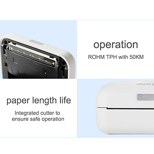Softmusic Office Electronics Portable Cute Bear Wireless Bluetooth Thermal Paper Photo Pocket Label Printer White by Softmusic (Image #8)