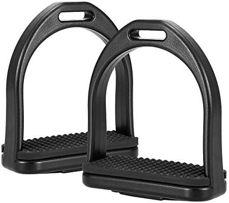 Lixada Pferdesattel aus Kunststoff/flexiblem Stahl, rutschfest, 2 Stück