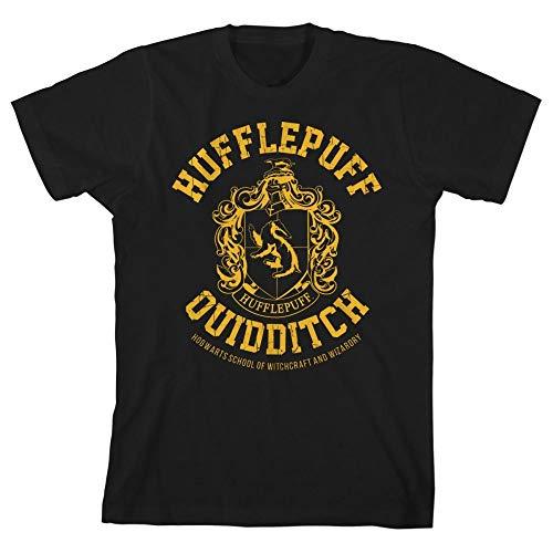 HARRY POTTER Gryffindor Slytherin Ravenclaw Hufflepuff Quidditch Boys Youth T-Shirt(Hufflepuff,Medium)