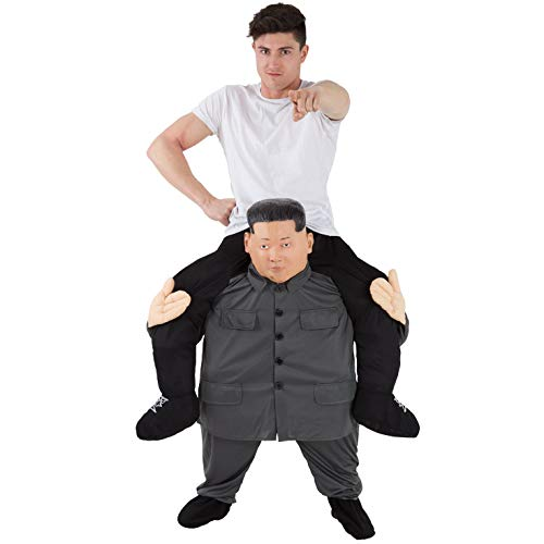 Morph Unisex Piggy Back Esteemed Leader Kim Jong Un Piggyback Costume - With Stuff Your Own Legs