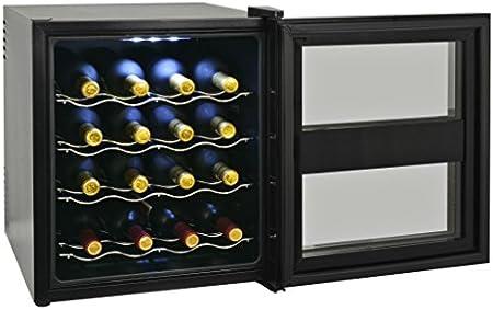 vidaXL Vinoteca 48L 16 Botellas con Pantalla LCD Electrodoméstico Nevera Vinos
