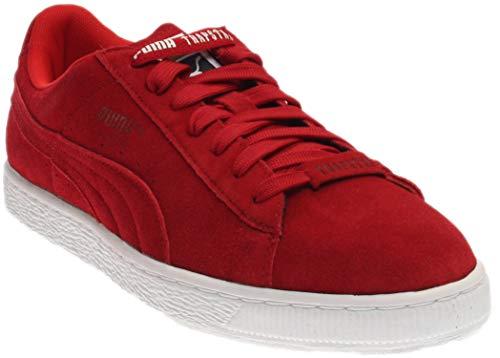 PUMA Suede X Trapstar Mens Shoes Barbados Cherry/White 361500-02 (12 D(M) US) (Puma Shoes Suede Men)
