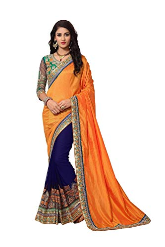 - Online Fayda Women's Georgette Saree With Blouse Piece (Of305`_Multi Color)