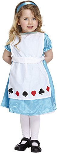 Glossy Look Little Girls' Alice In Wonderland Fancy Party Dress Costume Toddler 2-4 Years Light (Girls Alice In Wonderland Fancy Dress)