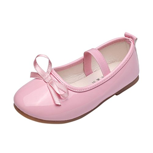 Baby Pink Leather Ballerina Shoes - Hot Sale ! Kstare Pricness Shoes, Kids Baby Girl Fashion Casual Leather Pricness Shoes Baby Single Shoes,for 3-9 Years Old (7-7.5T, Pink)
