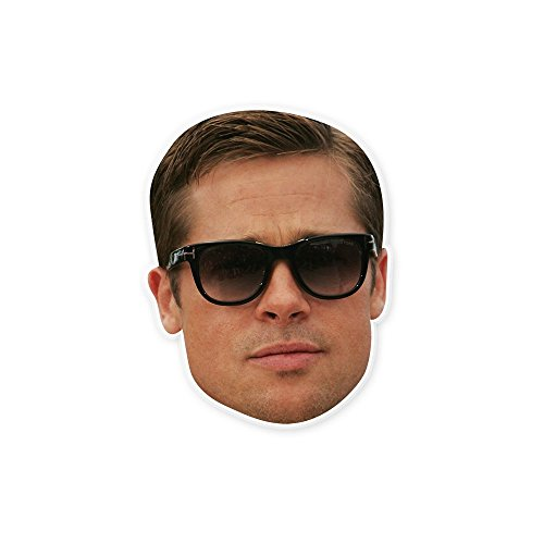 Unwelcome Greetings Cool Shades Brad Pitt Mask - Perfect for Halloween, Masquerade, Parties, Events, Festivals, Concerts - Jumbo Size Waterproof (Brad Pitt Costume)