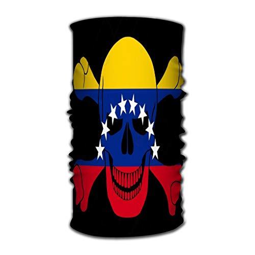 Xunulyn Head Wraps Head Scarf for Women Men Black Pirate Flag Image Jolly Roger Bones Combined co