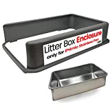 iPrimio Cat Litter Box Enclosure Stainless Steel Litter Box - Litter PAN is NOT Included. Patent Pending