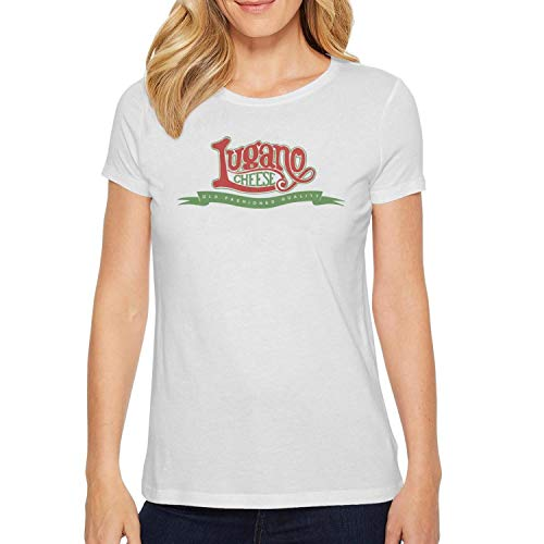 - Unicorns Farting Lugano Cheese Logo Women's Short Sleeve T-Shirt Cotton Cotton T-Shirt T Shirts for Men