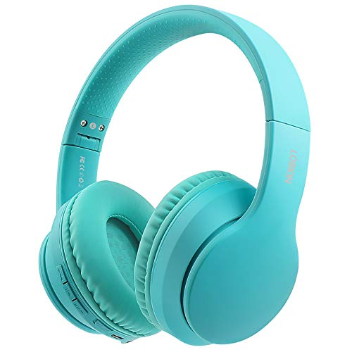 Lobkin Wireless Headphones, Bluetooth 5.0 Over-Ear Handsfree Built-in Mic, Hi-Fi Sound Stereo Noice Reduce, Foldable Protein Earpads for Online Class, Home Office, Game/TV/PC/Phone Headphones (Green)