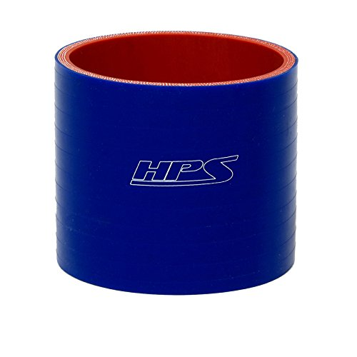 HPS HTSC-225-L6-BLUE Silicone High Temperature 4-ply Reinforced Straight Coupler Hose 75 PSI Maximum Pressure 6 Length 2.25 ID Blue 6 Length 2.25 ID HPS Silicone Hoses