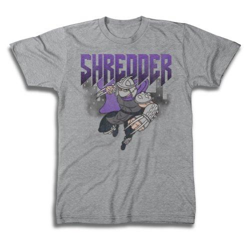 [Teenage Mutant Ninja Turtles Men's 80's Shredder In Action Vintage T-Shirt, Heather Grey, Large] (80s Fashion Men)