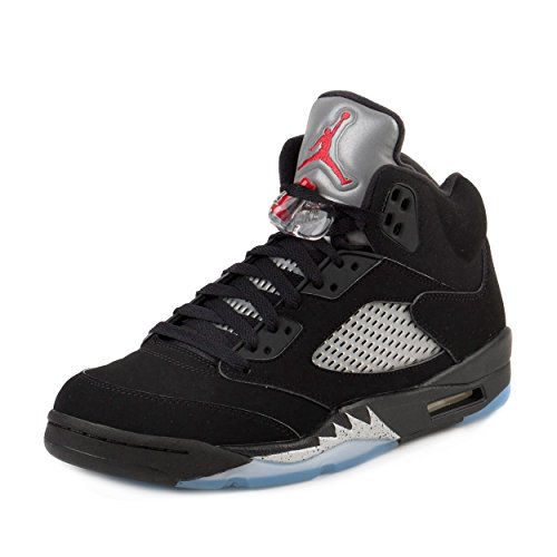 Air Jordan 5 Retro OG Men's Shoes Black/Fire Red/Metallic Silver/White 845035-003 (10.5 D(M) US)