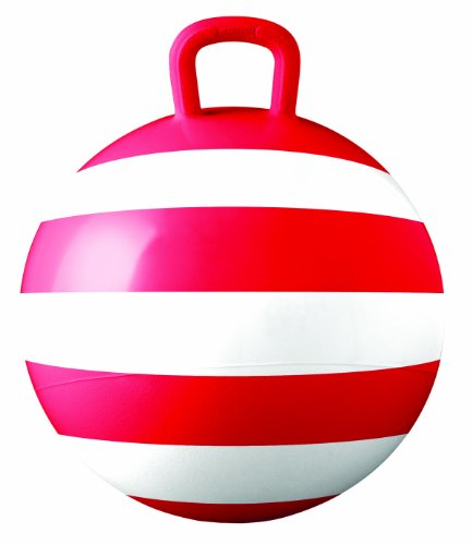 Hedstrom Red Striped Hopper Ball, Kid's ride-on toy, Bouncy hopping ball with handle - 15 Inch ()