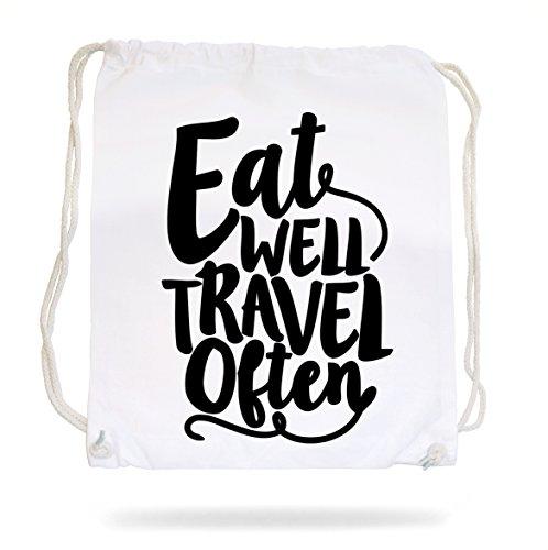 Eat Well Travel Often Gymsack White Certified Freak ZjCgoPNIF