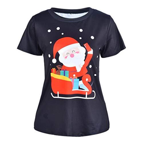 Santa Claus Costume,Mens Womens Santa Claus Snowman Print Novelty Christmas Holiday Humor Unisex T-Shirt ()