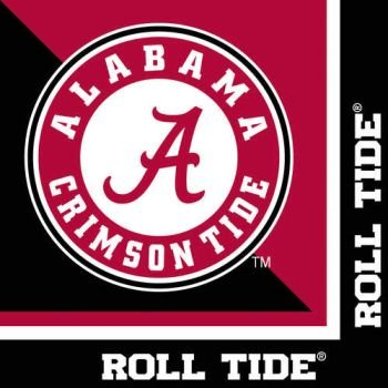 - Creative Converting Alabama Crimson Tide Luncheon Napkins (20 Count)