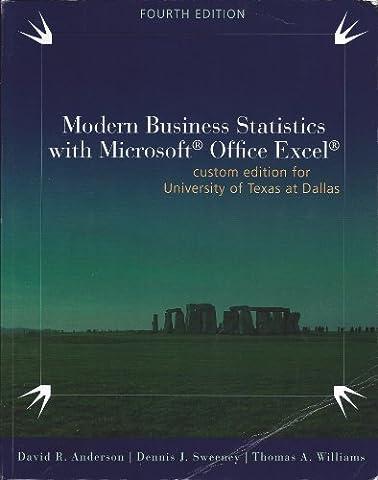 Modern Business Statistics - Custom Edition for UTD - With Access Code (Modern Business Statistics)