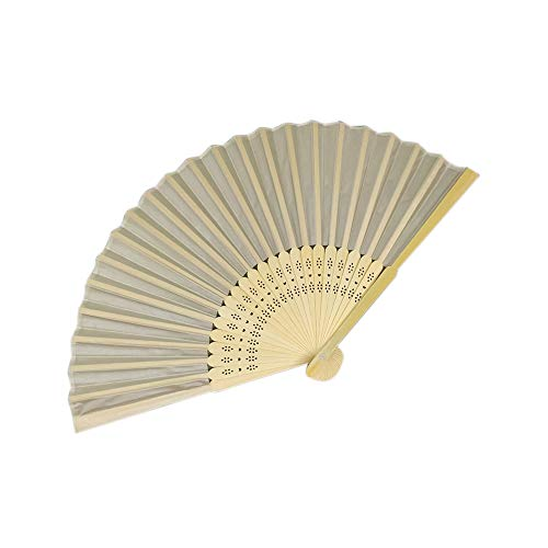 AZSXDC Personalized Wood Spun Silk Hand Fan Wedding Invitation