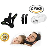 Stop Snoring Devices 2 Sets, Anti Snoring Chin Strap with 2 Extend Straps + Snoring Nose Vent, Best Snoring Solutions for Open Mouth Snorers, Snoring Relief Devices for Men & Women by Hioerzy