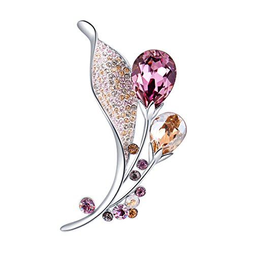 RAINBOW BOX - RBB002 - Elegant Brooch Crystals from Swarovski - 2017 Winter Collection (Pink)