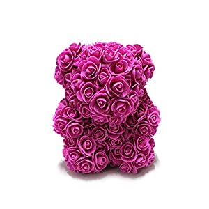 Weite Romantic Rose Teddy Bear Cub Forever Artificial Rose Anniversary Christmas Valentines Gift - 9 Inches 109