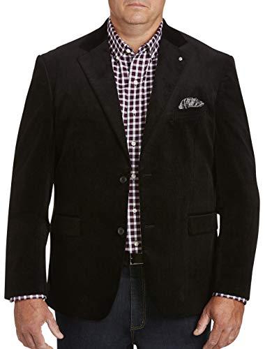 Oak Hill by DXL Big and Tall Corduroy Sport Coat (3XL, Black)
