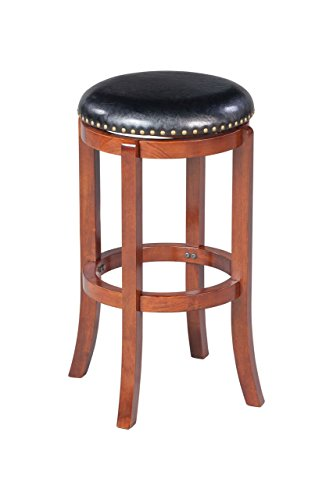 Boraam 33229 Cordova Bar Height Swivel Stool, 29-Inch, Cherry (Stool Cherry Antique Pub)
