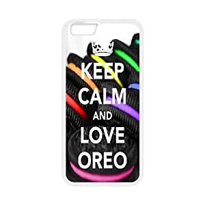 IPhone 6 Case KEEP CALM Quote,Keep Calm and Love Oreo., Men Cool Keep Calm Quote Zachcolo, {White}