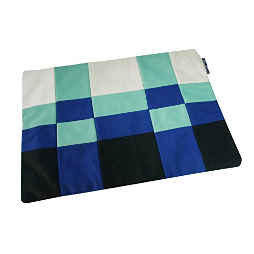 Checkered Folder (Patchwork File Folder - Colorful Checkered Document File Zipper Bag)