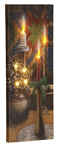 (Fox Valley Traders Doug Knutson Lighted Candlelight Canvas by Holiday PeakTM)