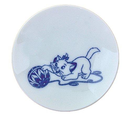 (MISATO POTTERY (SANGO TOKI) Disney stylish blue and white porcelain Mini Dish Plate Marie 3230-115)