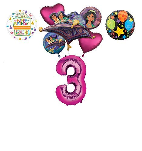 Mayflower Products Aladdin 3rd Birthday Party Supplies Princess