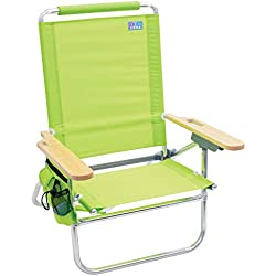 Rio Beach Bum Folding Beach Chair - Lime