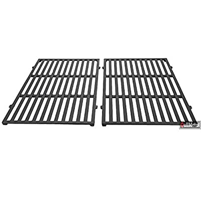 QuliMetal 7638 Cast Iron Cooking Grates for Weber Spirit 300 Series Gas Grills (17.5 x 11.9 x 0.5)