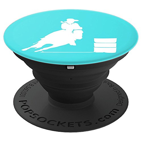 Barrel Racing - Horse - Aqua - PopSockets Grip and Stand for Phones and Tablets