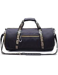 Aidonger Unisex Vintage Sports Duffel Bag Gym Bags (M / 44*24*24cm, Gold)