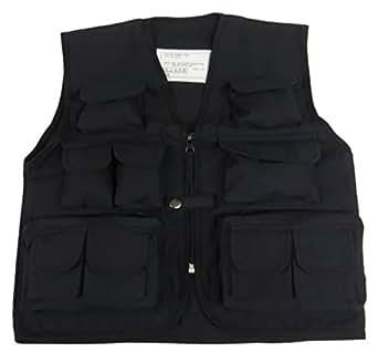 Top Gun Niños Camuflaje Multi Bolsillo Combate ejército para niños Chaleco Ropa Uniforme de Cadetes Negro XS