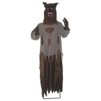 outdoor halloween yard decoration scary werewolf party prop