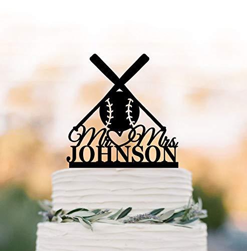 Baseball Wedding Cake Topper Mr And Mrs Cake