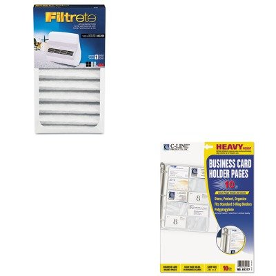 KITCLI61217MMMOAC200RF - Value Kit - Filtrete Replacement Filter (MMMOAC200RF) and C-line Business Card Binder Pages (CLI61217) by Filtrete