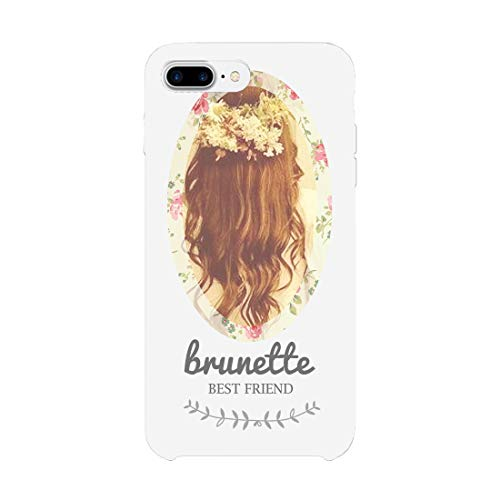 365 Printing Floral Brunette and Blonde White Matching Best Friends Phone Cases (Right - iPhone 7)