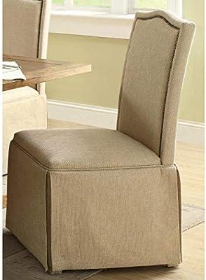Terrific Amazon Com A Line Furniture Jonquil Nail Head Skirted Ibusinesslaw Wood Chair Design Ideas Ibusinesslaworg