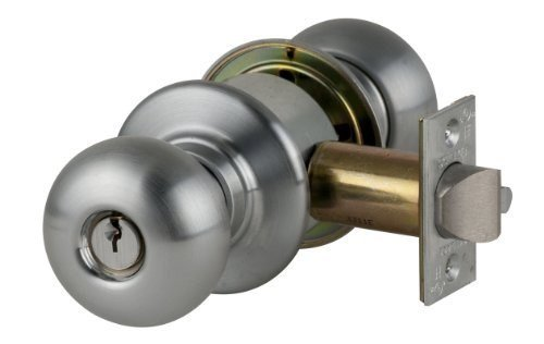 Schlage D80PD PLY 626 C123 Keyway Series D Grade 1 Cylindrical Lock, Storeroom Function, C123 Keyway, Plymouth Design, Satin Chrome Finish by Schlage Lock Company