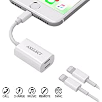 AXELECT iPhone 7 Adapter & Splitter, (Suport iOS 10.3 and later) Lightning Headphone Audio + Charge Adapter for iPhone 7/7 Plus