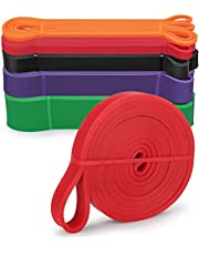 Pull up Assist Bands Heavy Duty Exercise Resistance Bands Set of 5 Elastic Workout Bands Mobility and Powerlifting Bands Extra Durable Fitness Bands for Stretching Body Training