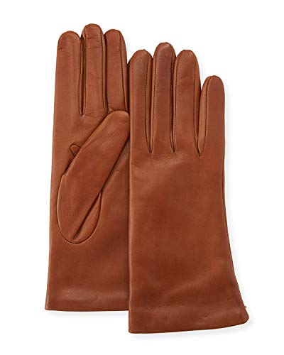 Saks Off Fifth Avenue Women's Leather Gloves, Cashmere-Lined 100% Sheepskin Leather Saddle ~ Size 7 - Avenue Cashmere Fifth