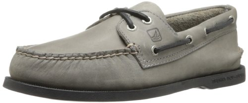 Sperry Men's A/O 2 Eye Boat Shoe,Ash Grey,9.5 M US (Grey Ash Footwear)